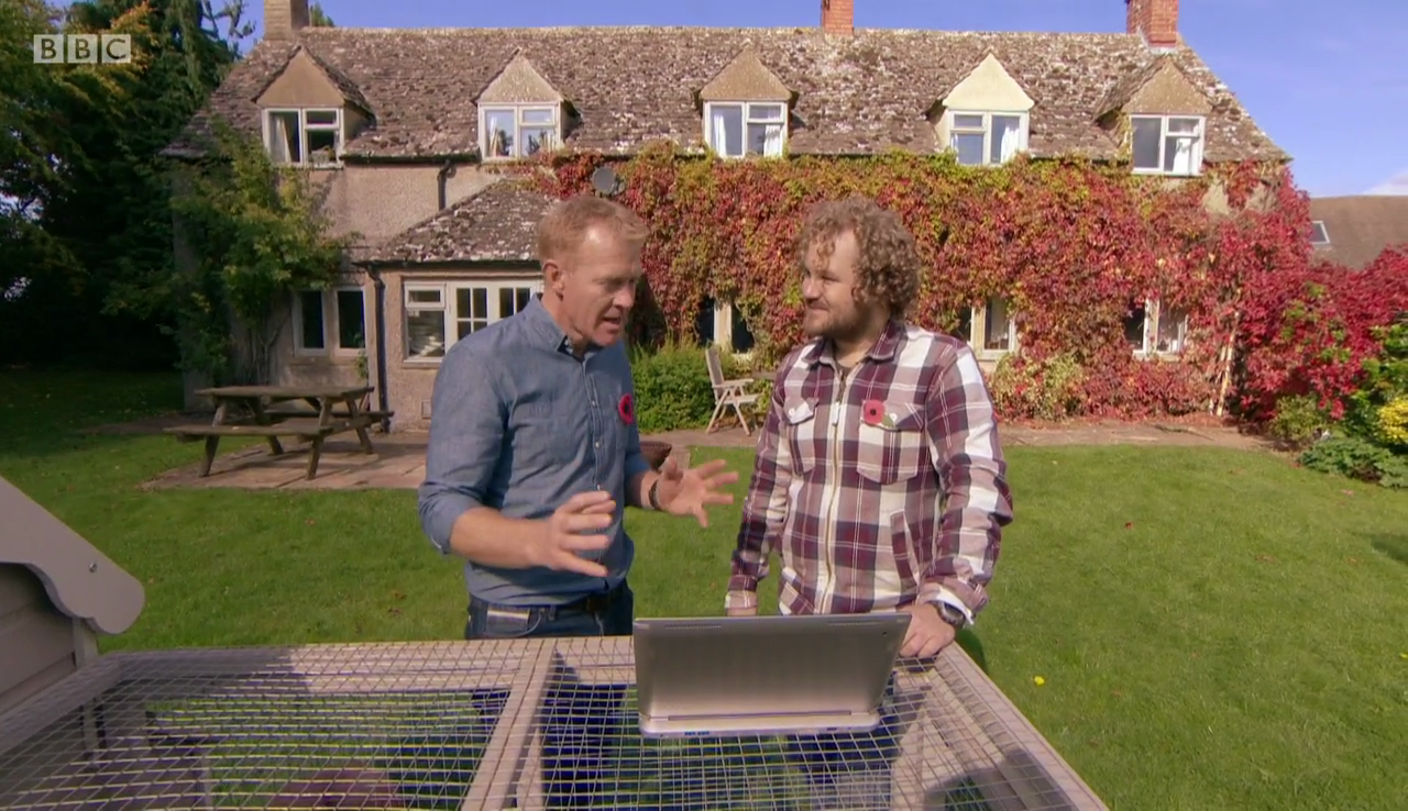 Jolyon on Countryfile with Adam Henson