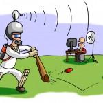 Eye Movements and Cricket